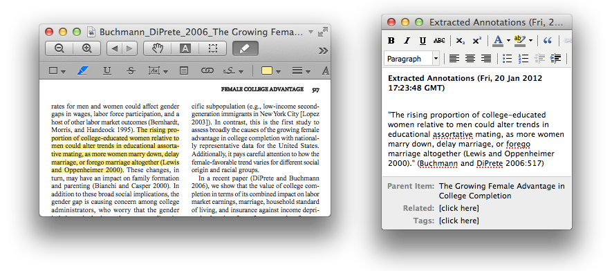 pdf annotation and highlight extraction