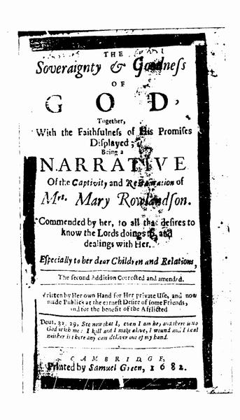 Good Essay About Mary Rowlandson instance