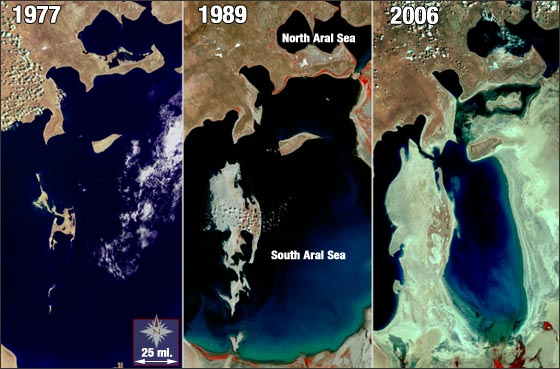 The aral sea desertification