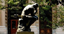 A cast of Auguste Rodin's The Thinker